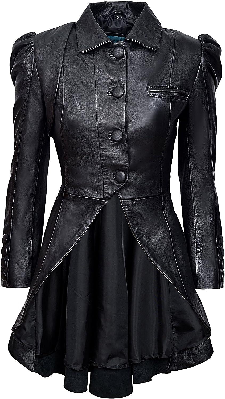 Steampunk Jacket | Steampunk Coat, Overcoat, Cape Smart Range Kristen Tailcoat Ladies Real Leather Gothic Victorian Steampunk Aristocrat Black Jacket Coat 5003 £209.99 AT vintagedancer.com
