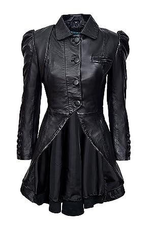 Damen Kristen Victorian Smart Steampunk Frack Gothic Echtleder Range q4FSTg6