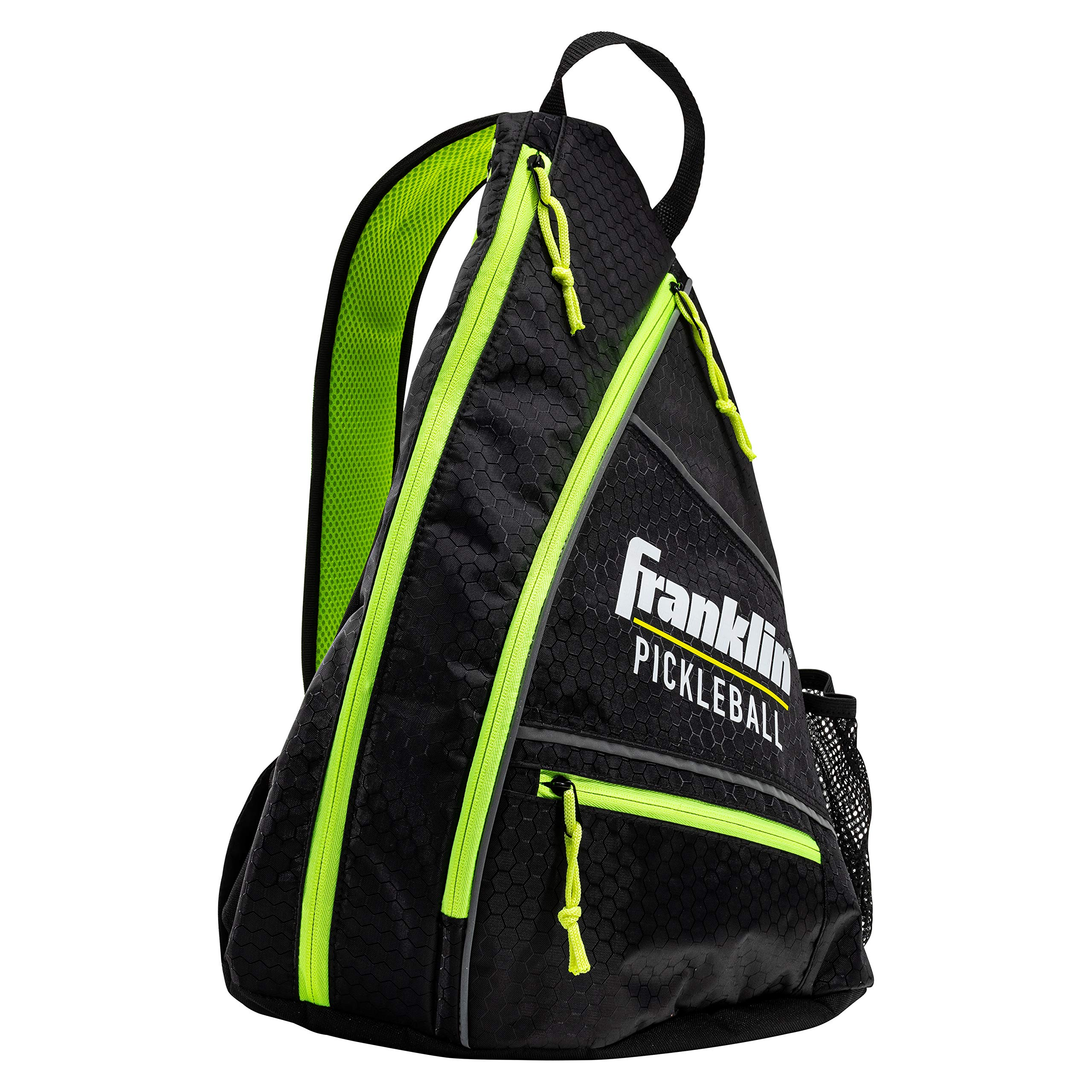 Franklin Sports Pickleball Bag - Men's and Women's Pickleball Backpack - Adjustable Sling Bag - Official Bag of U.S Open Pickleball Championships - Black/Optic by Franklin Sports