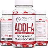 ADDI-A™ Adderall Style Nootropic Brain Booster [90ct] | 100% Natural Nootropics to Boost Focus, Energy & Clarity | #1 Brain B