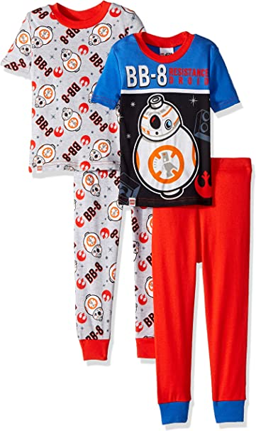 4 Piece PJ Set LEGO Ninjago Boys Pajama Set Long Sleeve Long Pant,Glow in the Dark