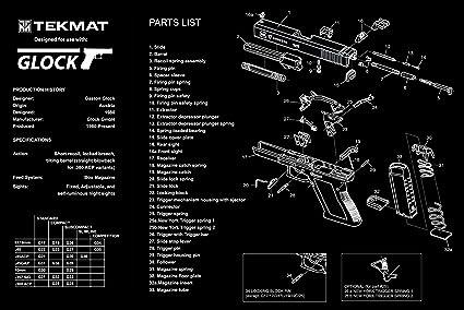 amazon com ultimate arms gear glock pistol handgun gunsmith rh amazon com glock 19 assembly diagram glock parts diagram gen 4
