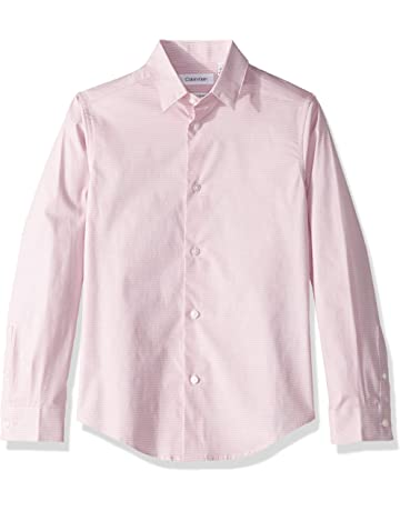0a83ffa150b Calvin Klein Boys  Long Sleeve Printed Button-down Dress Shirt