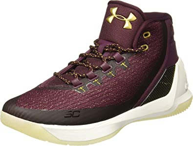 Under Armour Curry 3 Mens in Burgundy