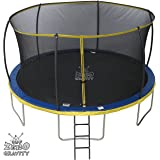 14ft Zero Gravity Ultima 4 High Spec Trampoline with Safety Enclosure Netting and Ladder