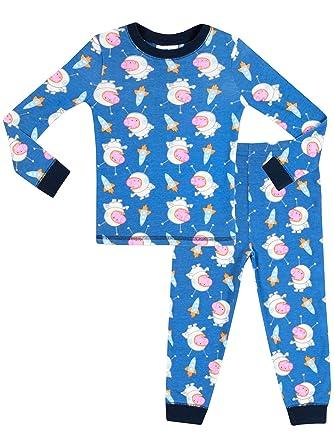 895fb6033 Character UK Boys George Pig Pyjamas - Snuggle Fit - Age 3 to 4 Years Blue:  Amazon.co.uk: Clothing