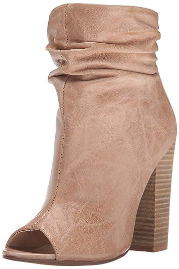 Chinese Laundry Kristin Cavallari Women's Liam Peep Toe Bootie, Mahogany  Leather, ...