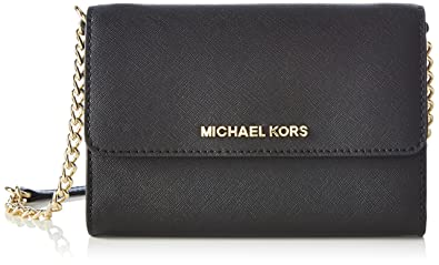 2d2344498130 MICHAEL Michael Kors Women's Jet Set Large Phone Cross Body Bag, Black, One  Size