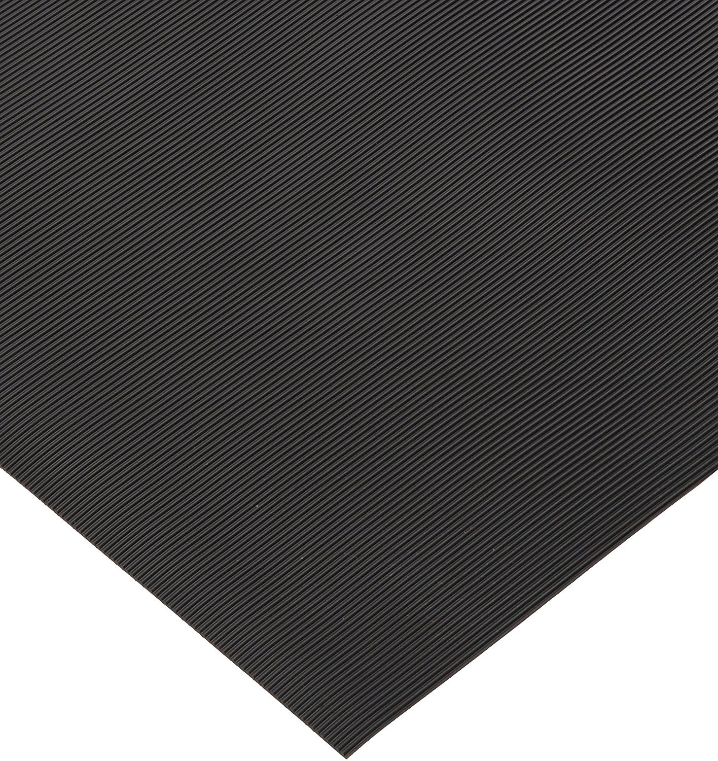 Rhino Mats SB436-3636 Corrugated Rubber Insulating Switchboard Mat, 3' Width x 3' Length x 1/4'' Thickness, 30000 VAC, ASTM Type II Class 2, Black