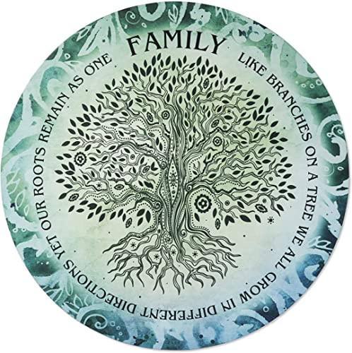 Next Innovations 3D Metal Wall Art – Family Quote Tree of Life Boho Wall Decor – Handmade in The USA for Use Indoors or Outdoors