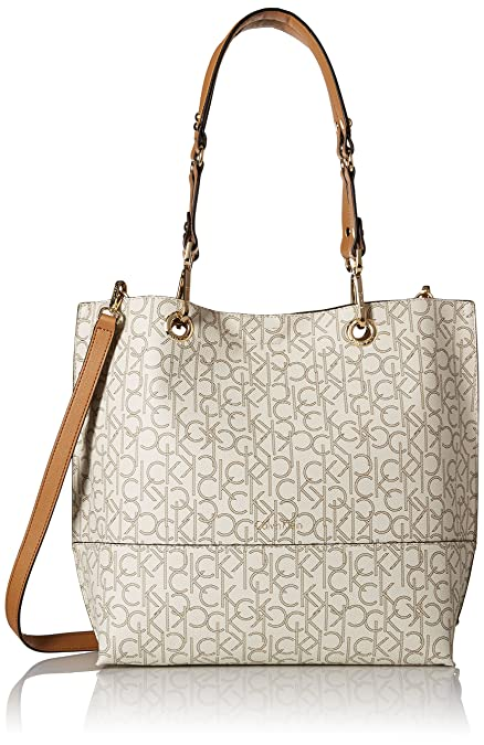 157f7c3a18 Calvin Klein Sonoma Monogram Tote: Amazon.co.uk: Shoes & Bags