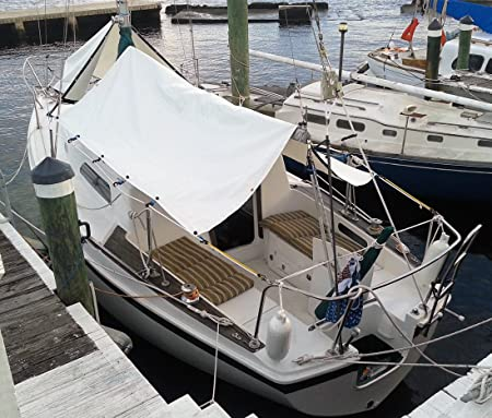 Amazon.com  Sail Boat Boom Tent u0026 Forward Tarp Combination Set for Sailboats (Black)  Sports u0026 Outdoors & Amazon.com : Sail Boat Boom Tent u0026 Forward Tarp Combination Set ...