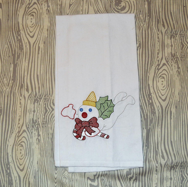 Mr Bingle Christmas Embroidered Kitchen Tea Towel