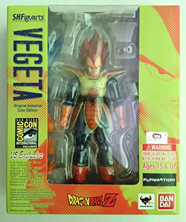Bandai Tamashii Nations SH Figuarts Vegeta Original Animation Colors SDCC Exclusive