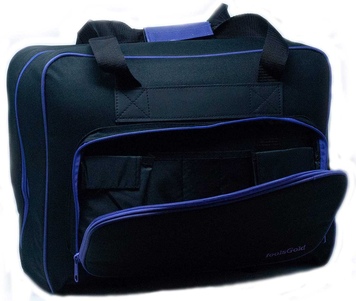Amazon.com: foolsGold Pro Thick Padded Sewing Machine Bag Carry Case (Black/Purple)