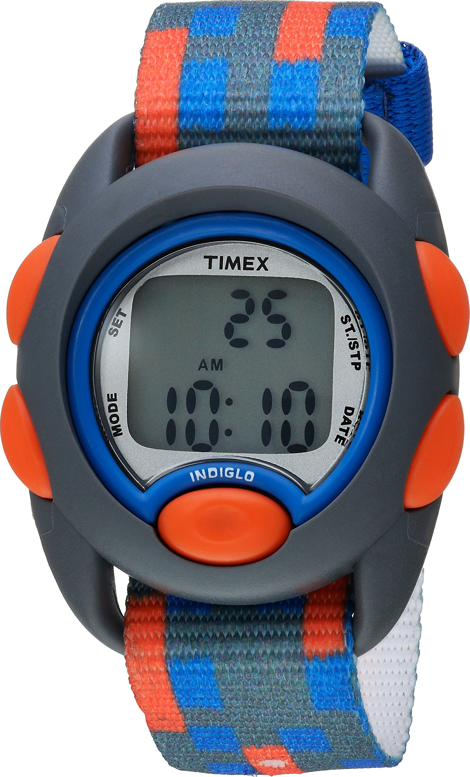 Timex Boys TW7C12900 Time Machines Digital Gray/Blue/Red Fabric Strap Watch by Timex