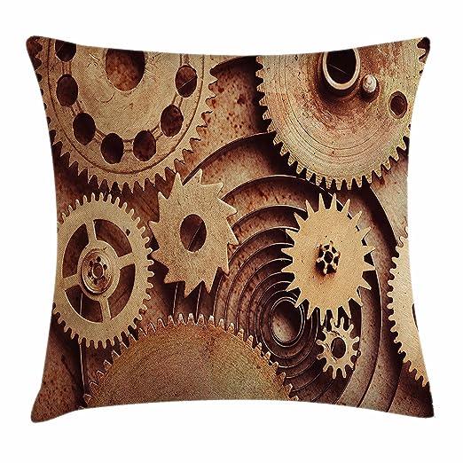 Funda de cojín industrial interior de The Clocks con diseño ...