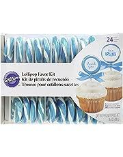 Wilton 1006-2978 Blue-White Lollipop Favor Kit, 24-Count