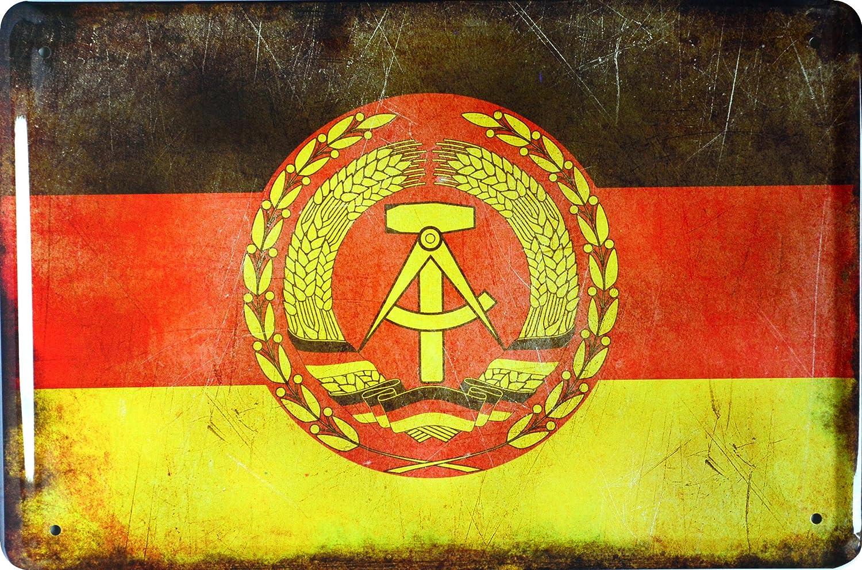 Cartel de chapa Países bandera Naciones National DDR ...
