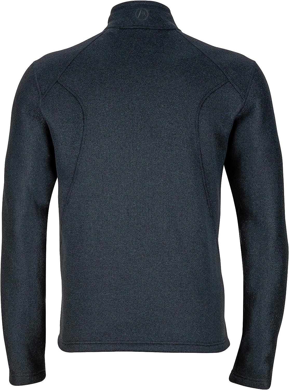 Marmot Men's Drop Line 1/2 Zip Pullover Lightweight 100-Weight Sweater Fleece Jacket: Clothing