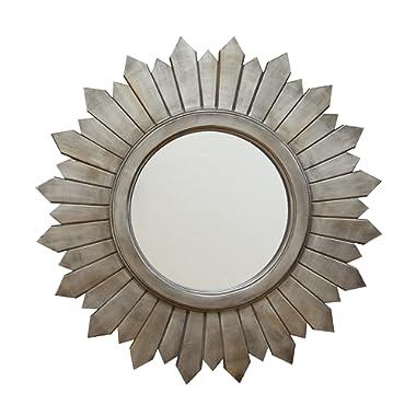 Stratton Home Decor S02379 Madilyn Wood Mirror, W x 1.18 D x 29.13 H, Silver
