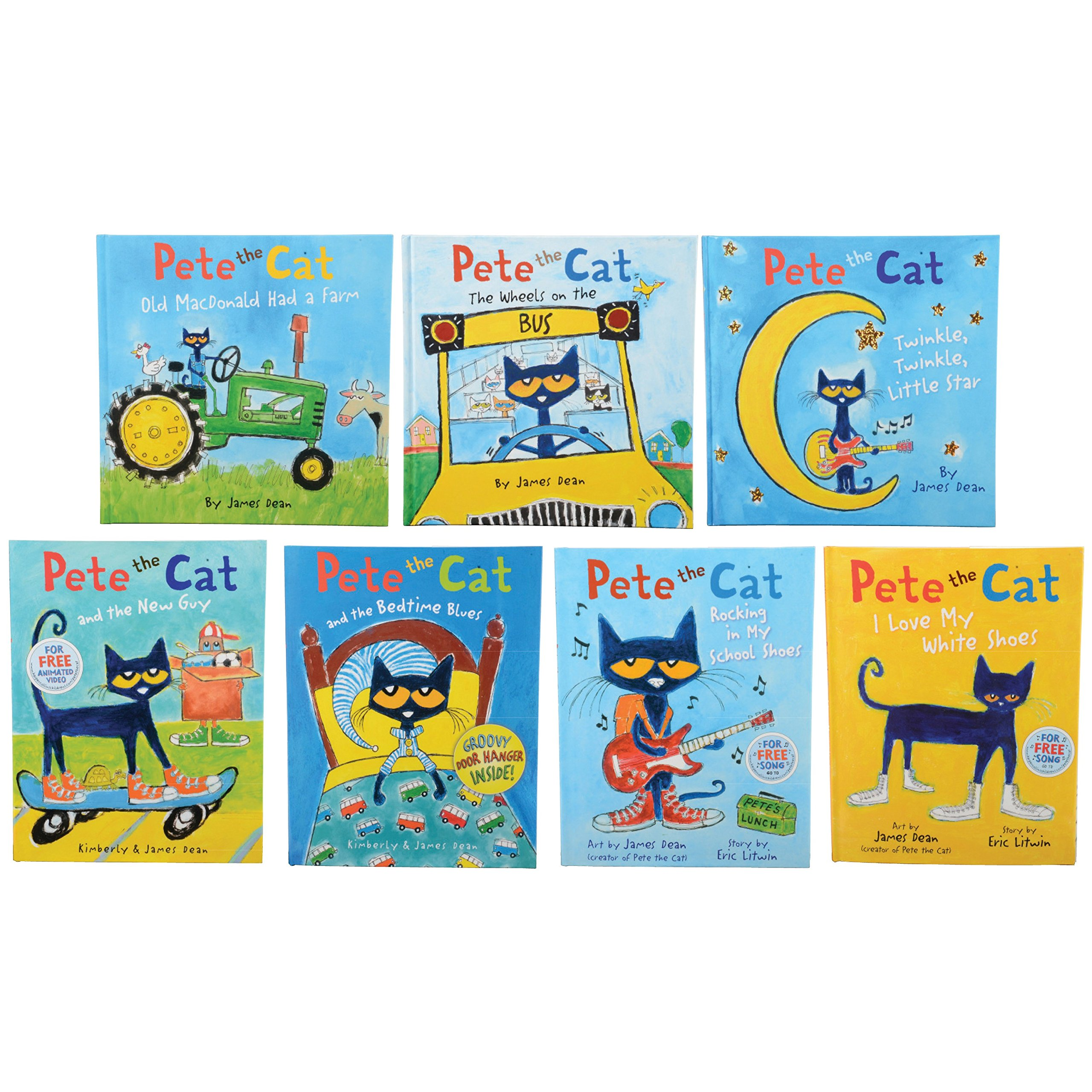 Constructive Playthings HR-7 Pete The Cat Hardcover Books, Grade: Kindergarten to 3 (Pack of 7 )