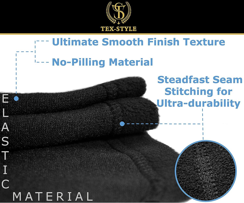 0bb16abe6e8 Neck Warmer Gaiter 2 Pack Premium Black Fleece Winter Face Mask Balaclava  Nose Warmer Tube Scarf larger image