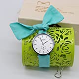 Women's DIY Natural Cloth Watch Strap with Flower