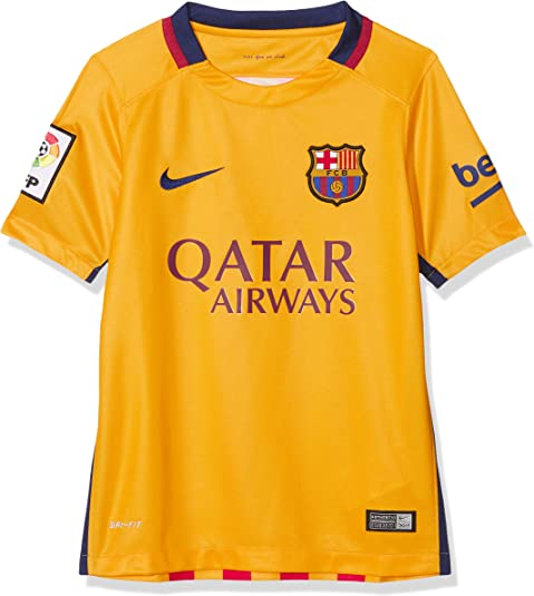 NIKE FC Barcelona Away Stadium 2015/2016 - Camiseta Oficial, Talla M: Amazon.es: Zapatos y complementos