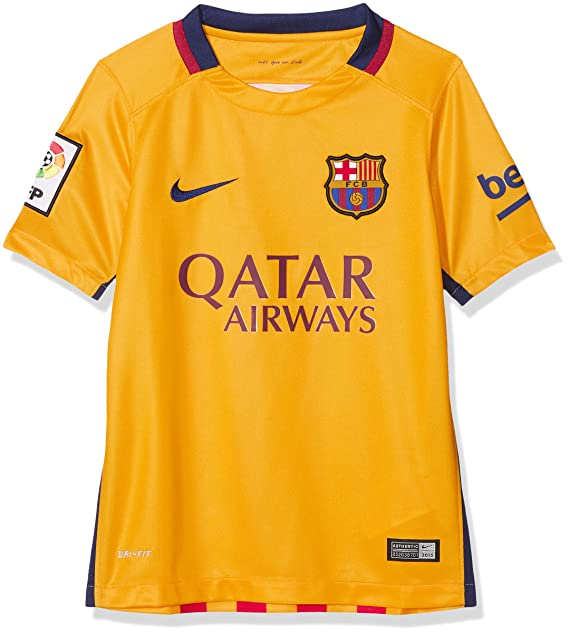 best sneakers 7bf69 40bdd Nike Men's 2015/16 Stadium Away Second Equipment Fc Barcelona 2015/2016  T-Shirt