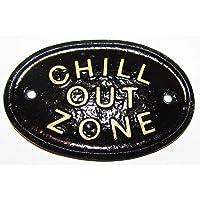 """""""Chill OUT zone"""" diseño cilíndrico/con texto en inglés"""