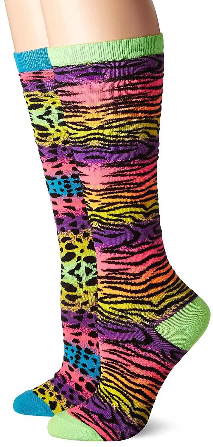 3C4G It Takes Two Knee Socks, Neon Bright Animal Prints, Shoe size 13-6 3C4G Three Cheers For Girls 72025