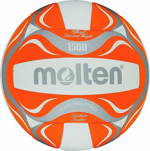 11 opinioni per Molten- BV1500-OR, Pallone da beach volley, colore: Bianco/Arancione/Argento