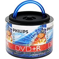 PHILIPS 16x 4.7GB 120-Min DVD+R Media 50-Pack