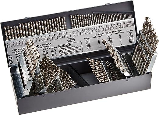 High Speed Steel Jobber Length 12Pcs Jobber Length Drill Bits Kodiak USA Made #44 Wire Diameter Drill Oxided Black Oxide
