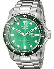 Invicta Men's PRO DIVER Steel Bracelet & Case Quartz Green Dial Watch 20096