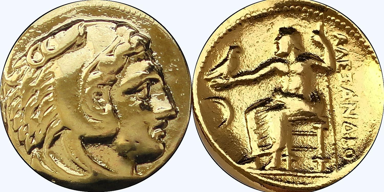 Zeus and Apollo 6 Greek Coins Athena Alexander Percy Jackson Gift 6SET-G
