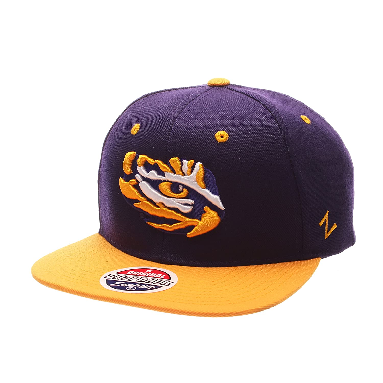 new arrival 6cff5 c2f3e ... clearance amazon zhats ncaa lsu tigers mens z11 snapback hat adjustable  size team color sports outdoors