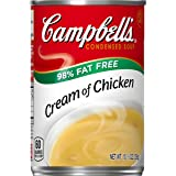 Campbell's Condensed Soup 98% Fat Free, Cream of Chicken, 10.5 oz