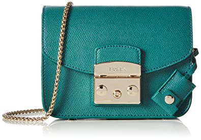 FURLA Women 808038 Cross-Body Bag Green Size: 17x12x8 cm (B x H