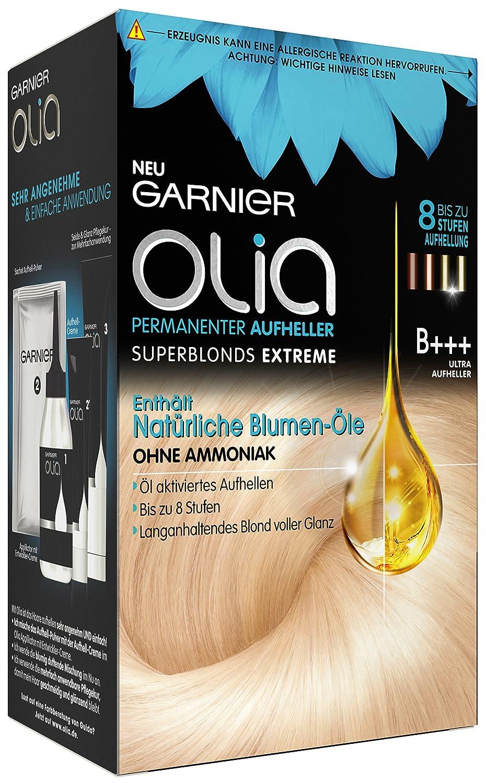 Garnier Olia Haar Aufheller B+++ Ultra Bleach superblonds extreme, Haar Coloration, 3er Pack (3 x 1 Stück) 3er Pack (3 x 1 Stück) XDE01857