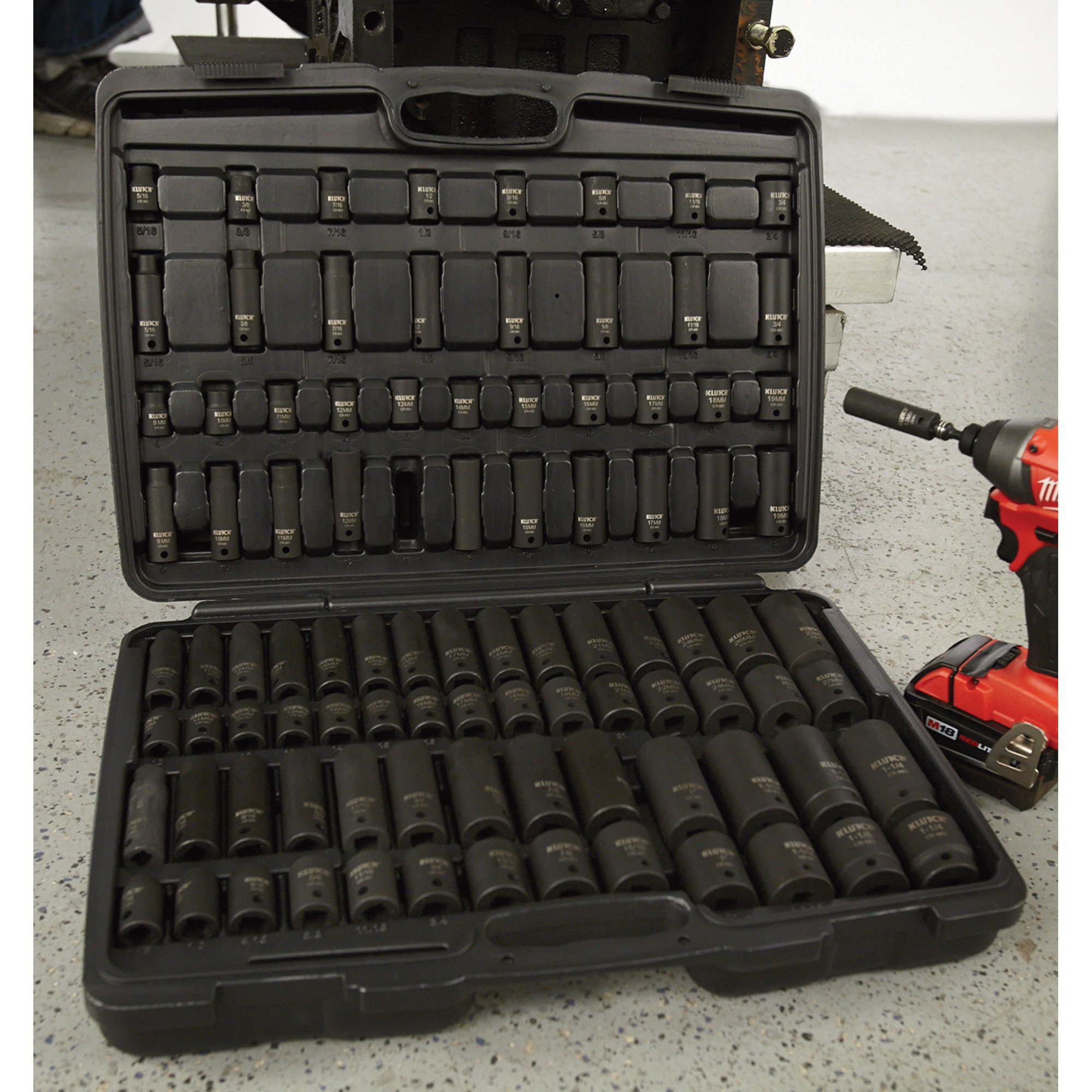 Klutch Impact Socket Set - 94-Pc, 3/8in.- & 1/2in.-Drive by Klutch (Image #6)