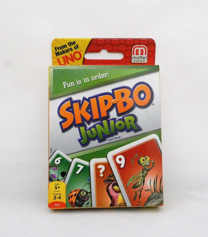 Mattel Games UNO Baby Animals with Skip Bo Junior Game Bundle