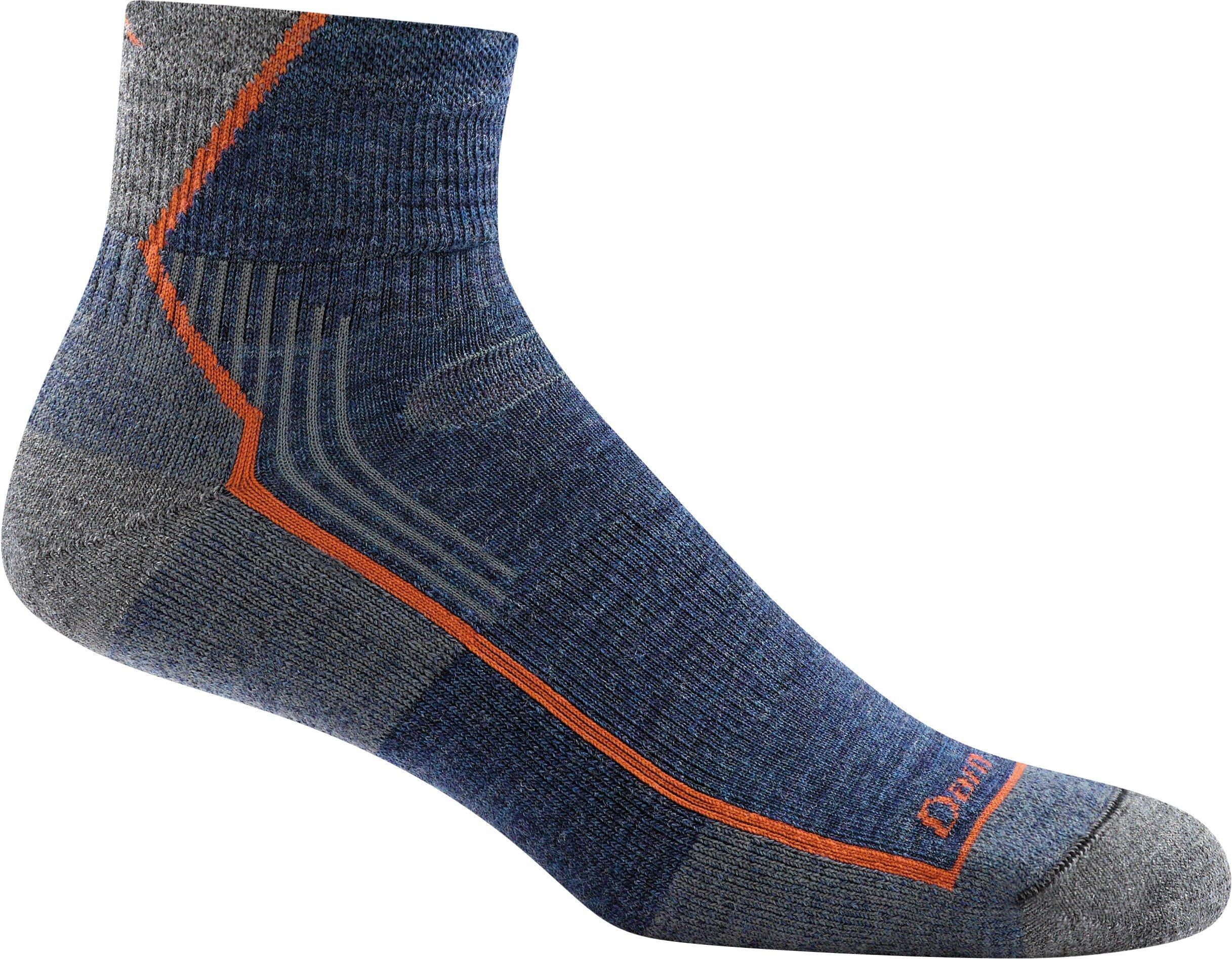 Darn Tough Men's Hiker 1/4 Sock Cushion (Style 1905) Merino Wool - 6 Pack Special (Denim, X-Large (12.5-14.5)) by Darn Tough