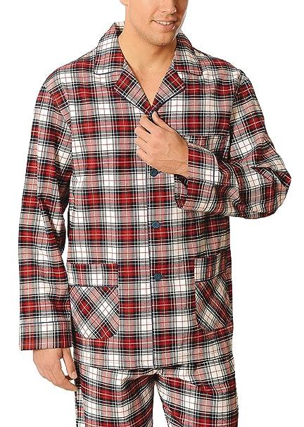 Especial tallas grandes, Pijama de caballero | Pijama de hombre de manga larga clásico invernal