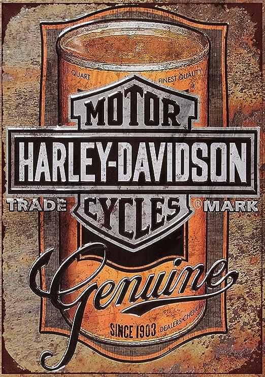 Cartel de metal con diseño de Harley Davidson, 25,4 x 20,32 ...