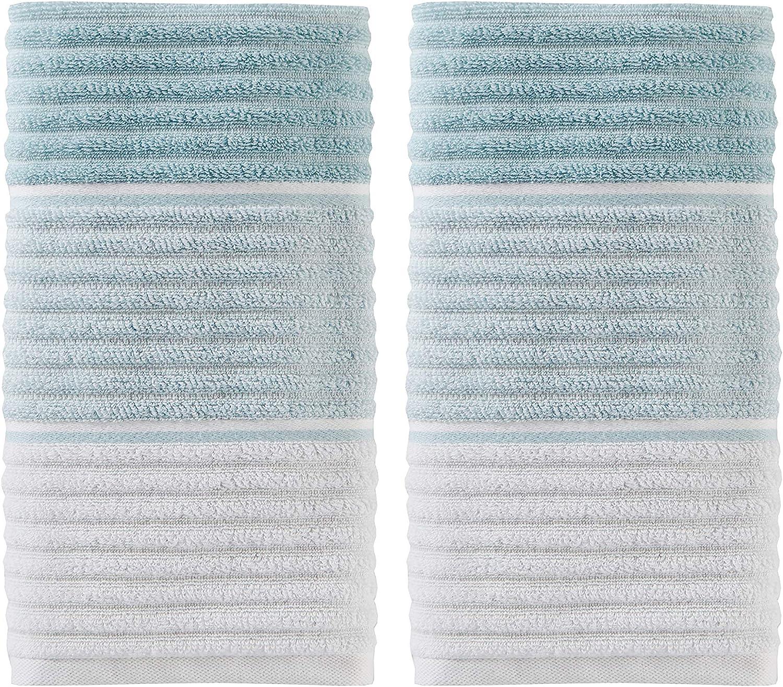 SKL Home by Saturday Knight Ltd. Planet Ombre 2-Piece Hand Towel Set, Aqua
