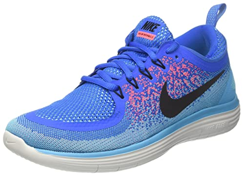 Nike Free RN Distance 2, Zapatillas de Running Para Hombre, Multicolor (Volt Gelb/Schwarz-Hot Punch-Chlorblau), 45 EU amazon-shoes el-azul Cordones