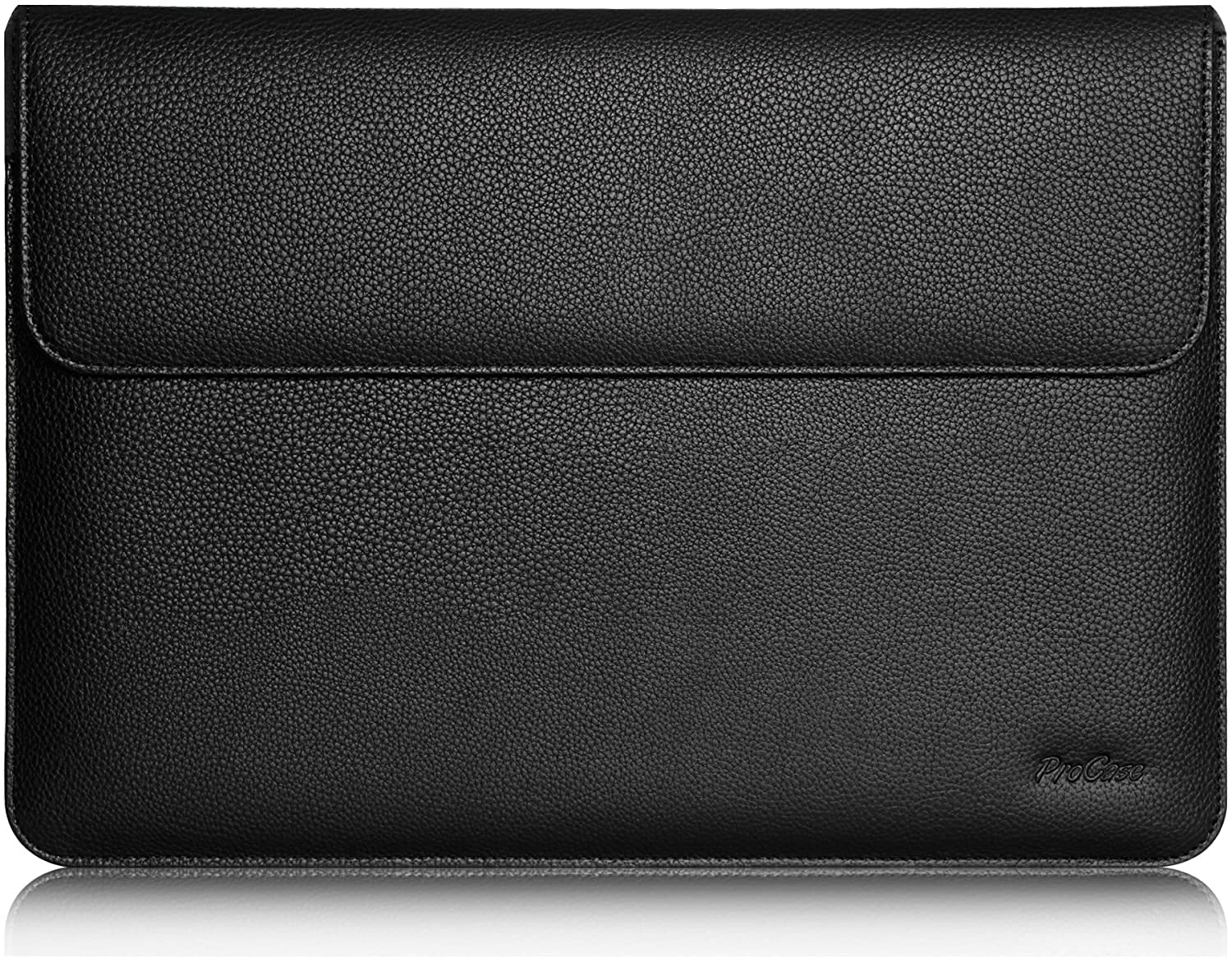 "Procase iPad Pro 12.9 Case Sleeve, Cushion Protective Sleeve Bag Cover for Apple iPad Pro 12.9"", Surface Pro X, Compatible with Apple Smart Keyboard, Document Pocket & Apple Pencil Holder (Black)"