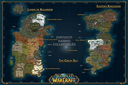 Amazon cgc huge poster world of warcraft world map pc cgc huge poster world of warcraft world map pc ext184 24quot x gumiabroncs Choice Image